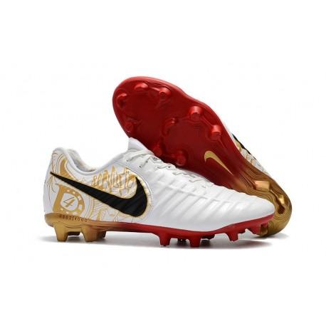 Nike Tiempo Legend 7 FG Scarpa da Calcio Uomo - Bianco Nero Rosso