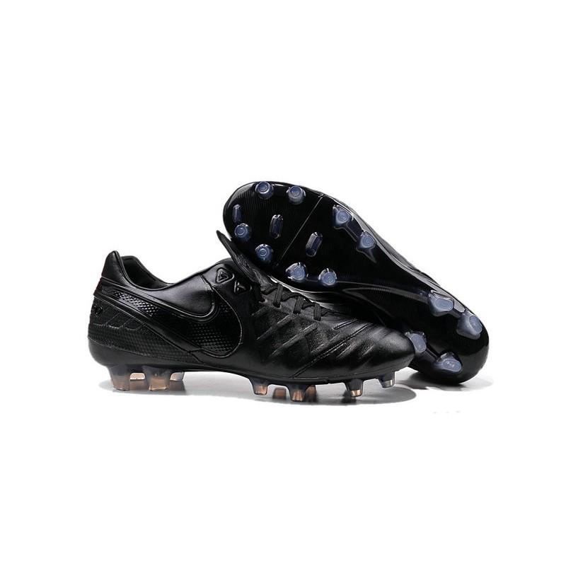 cheap for discount 953f3 fad8e Scarpe Nike Tiempo Legend VI FG Pelle di Canguro - Tutto Nero Vedi a  schermo intero. Precedente. Successivo
