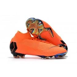 Scarpa da Calcio Nike Mercurial Superfly VI 360 Elite FG Arancio Nero