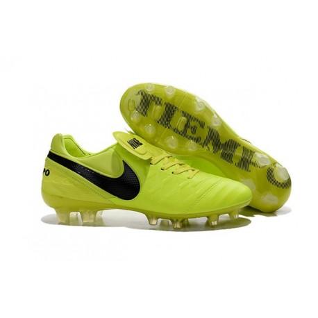 Scarpe Nike Tiempo Legend VI FG Pelle di Canguro - Volt Nero