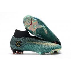 Scarpa da Calcio Ronaldo Nike Mercurial Superfly VI 360 Elite FG Blu Oro Nero