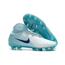 Nike Magista Obra 2 FG Scarpe da Calcio Bianco Blu Nero