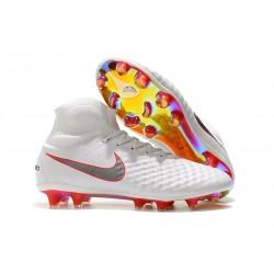 Nike Magista Obra 2 FG Scarpe da Calcio Bianco Grigio Rosso