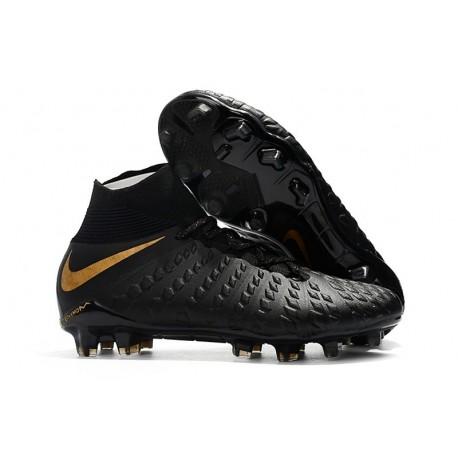 Nike Scarpa Calcio Hypervenom Phantom 3 DF FG Nero Oro
