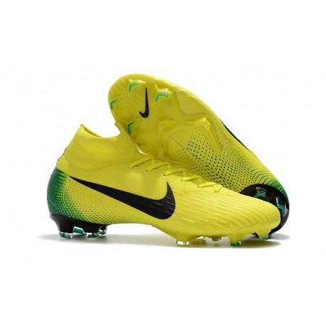 Scarpa da Calcio Calcio da Nike Mercurial Superfly VI 360 Elite FG Giallo Nero b1cd41