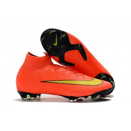 Scarpa da Calcio Nike Mercurial Superfly VI 360 Elite FG Arancio Giallo