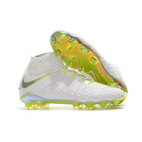 Nike Scarpa Calcio Hypervenom Phantom 3 DF FG Blanco Gris Voltio