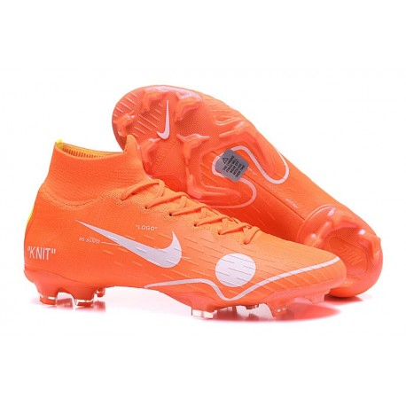 Scarpa Off-white Nike Mercurial Superfly VI 360 Elite FG Arancio