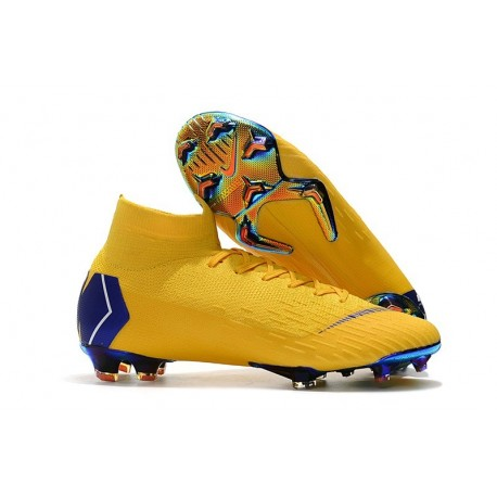 Nike Mercurial Superfly 6 Elite DF CR7 FG Nuovo Scarpe - Giallo Blu
