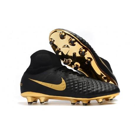 Nike Magista Obra 2 FG Scarpe da Calcio Nero Oro