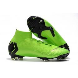 Nike Scarpa Mercurial Superfly 6 Elite DF FG - Verde Argento