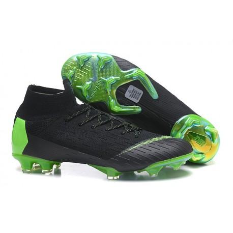 Nike Scarpa Mercurial Superfly 6 Elite DF FG - Nero Verde
