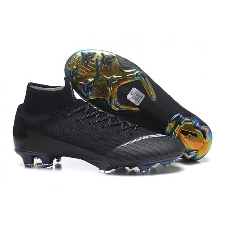 Nike Scarpa Mercurial Superfly 6 Elite DF FG - Nero Bianco