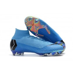 Nike Scarpa Mercurial Superfly 6 Elite DF FG - Blu Nero
