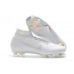 Nike Scarpa Mercurial Superfly 6 Elite DF FG - Bianca