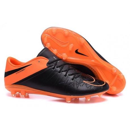 Scarpe Calcetto Neymar Nike Hypervenom Phinish FG Pelle Nero Arancio