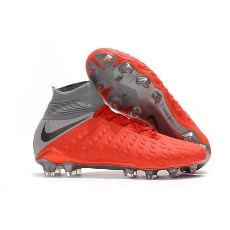 Nike Scarpa Calcio Hypervenom Phantom 3 DF FG Rosso Grigio