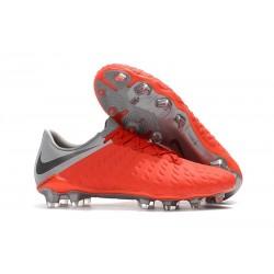Scarpe da Calcio Nike Hypervenom Phantom 3 FG ACC - Rosso Grigio