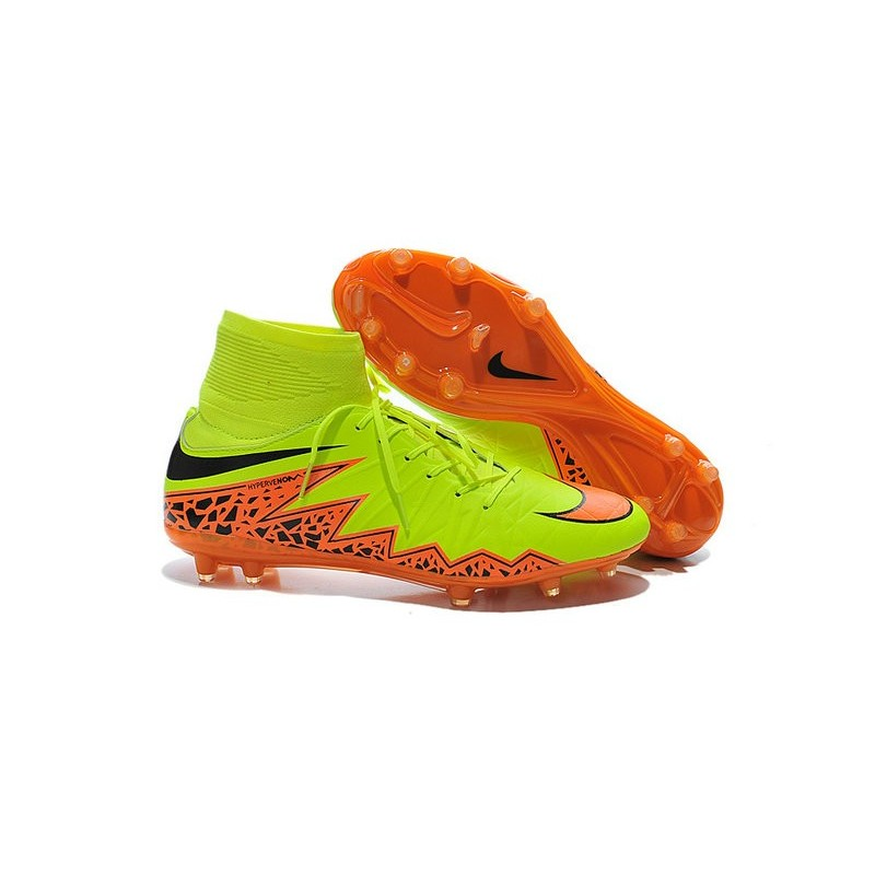 buy online 5f40a ee5b6 Nike Scarpa Calcio Uomo HyperVenom Phantom II FG Giallo Arancio
