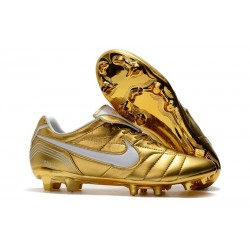 Scarpa Nike Tiempo Legend VII Elite FG ACC - Oro Bianco