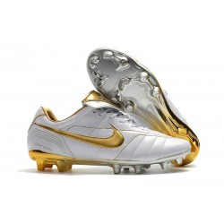 Scarpa Nike Tiempo Legend VII Elite FG ACC - Bianco Oro