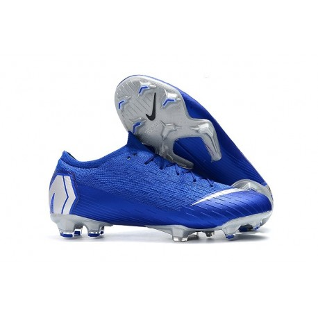 Nike Scarpe da Calcetto Mercurial Vapor XII Elite FG - Blu Argento
