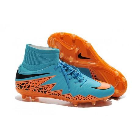 Nike Scarpa Calcio Uomo HyperVenom Phantom II FG Blu Arancio Nero