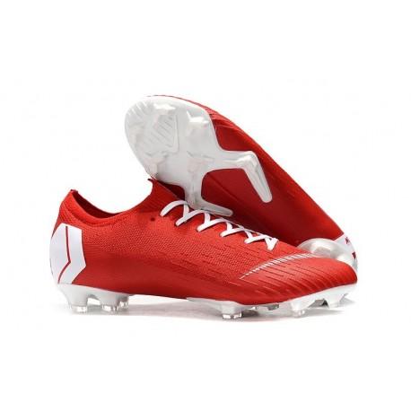 Nike Scarpe da Calcetto Mercurial Vapor XII Elite FG - Rosso Bianco
