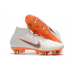 Nike Mercurial Superfly VI Elite Anti-Clog SG-Pro Bianco Arancio