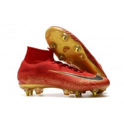 Cristiano Ronaldo Nike Mercurial Superfly VI Elite Anti-Clog SG-Pro Rosso