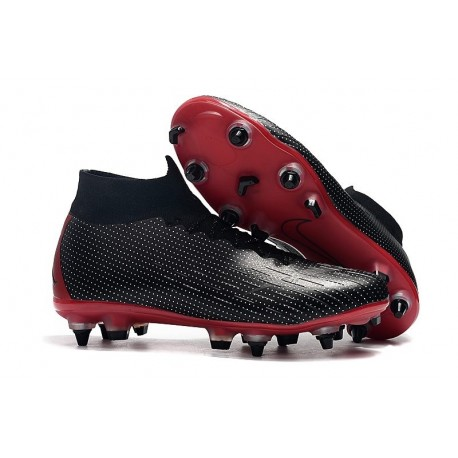 Scarpa Nike x Jordan Mercurial Superfly 6 Elite AC SG Pro - Nero Rosso