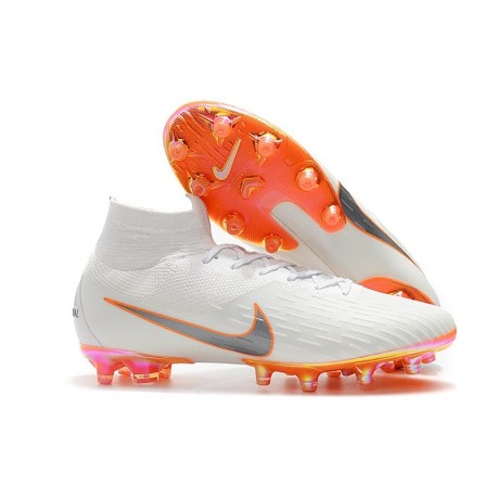 Scarpe Nike Mercurial Superfly 6 Elite AG-Pro Bianco Arancio
