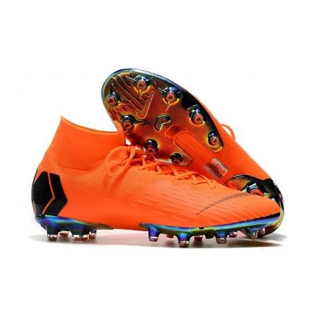 Scarpe Nike Mercurial Superfly 6 Elite AG-Pro Arancione Nero