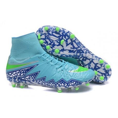 Scarpe da Calcio Neymar Nike HyperVenom Phantom 2 FG Blu Viola Verde