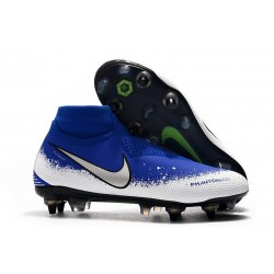 Nike Phantom Vision Elite Dynamic Fit AC SG-Pro Blu Bianco Argento
