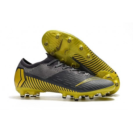 Scarpe Calcio Nike Mercurial Vapor 12 Elite AG Grigio Giallo