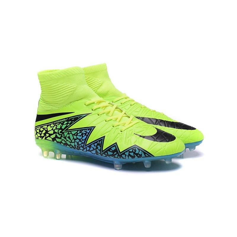 wholesale dealer 09ac2 7d468 Scarpe da Calcio Neymar Nike HyperVenom Phantom 2 FG Verde Blu Nero