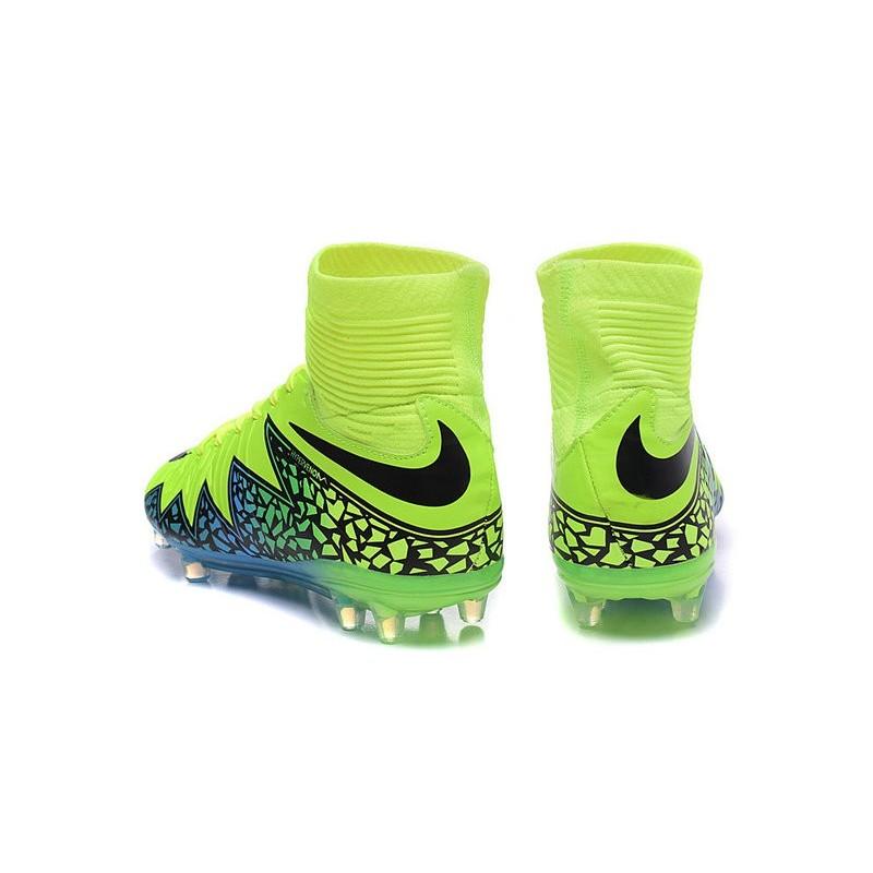 watch b2974 530cf Scarpe da Calcio Neymar Nike HyperVenom Phantom 2 FG Verde Blu Nero Vedi a  schermo intero. Precedente. Successivo