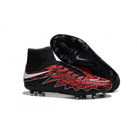 Scarpe da Calcio Robert Lewandowski Nike HyperVenom Phantom 2 FG Rosso Nero