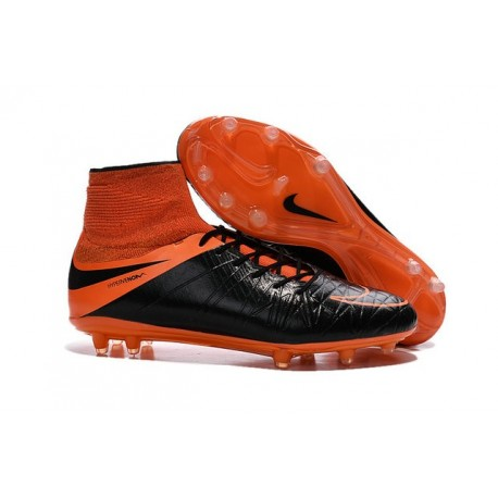 hot sales 1ff18 cb540 Scarpe da Calcio Neymar Nike HyperVenom Phantom 2 FG Pelle Nero Arancio