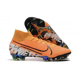 Scarpa Nike Mercurial Superfly VII Elite FG Arancione Bianco