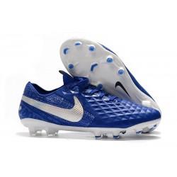 Nike Scarpa Tiempo Legend 8 Elite FG Blu Bianco