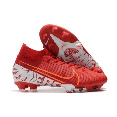 Scarpa Nike Mercurial Superfly VII Elite FG Rosso Bianco