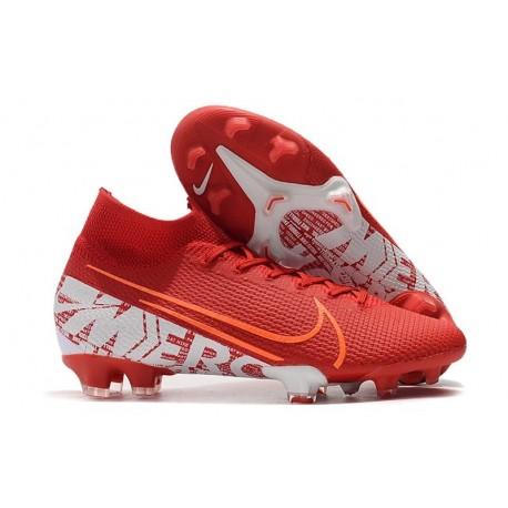 Scarpa Nike Mercurial Superfly VII Elite FG Rosso Bianco