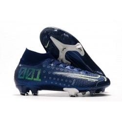 Scarpa Nike Dream Speed Mercurial Superfly VII Elite FG Blu Bianco