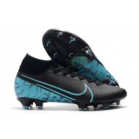 Scarpa Nike Mercurial Superfly VII Elite FG Negro Azul