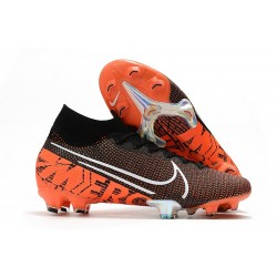 Nike Mercurial Superfly 7 Elite FG Nero Bianco Cremisi Hyper