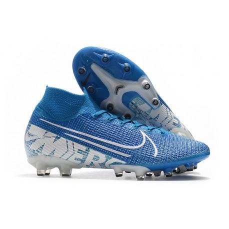 Nike Mercurial Superfly 7 Elite AG-Pro Scarpa Blu Bianco