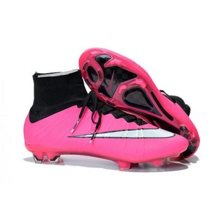 Scarpe da Calcetto Nike Mercurial Superfly FG CR7 Rosa Bianco Nero