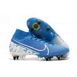 Nike Mercurial Superfly 7 Elite AC SG-Pro Blu Bianco